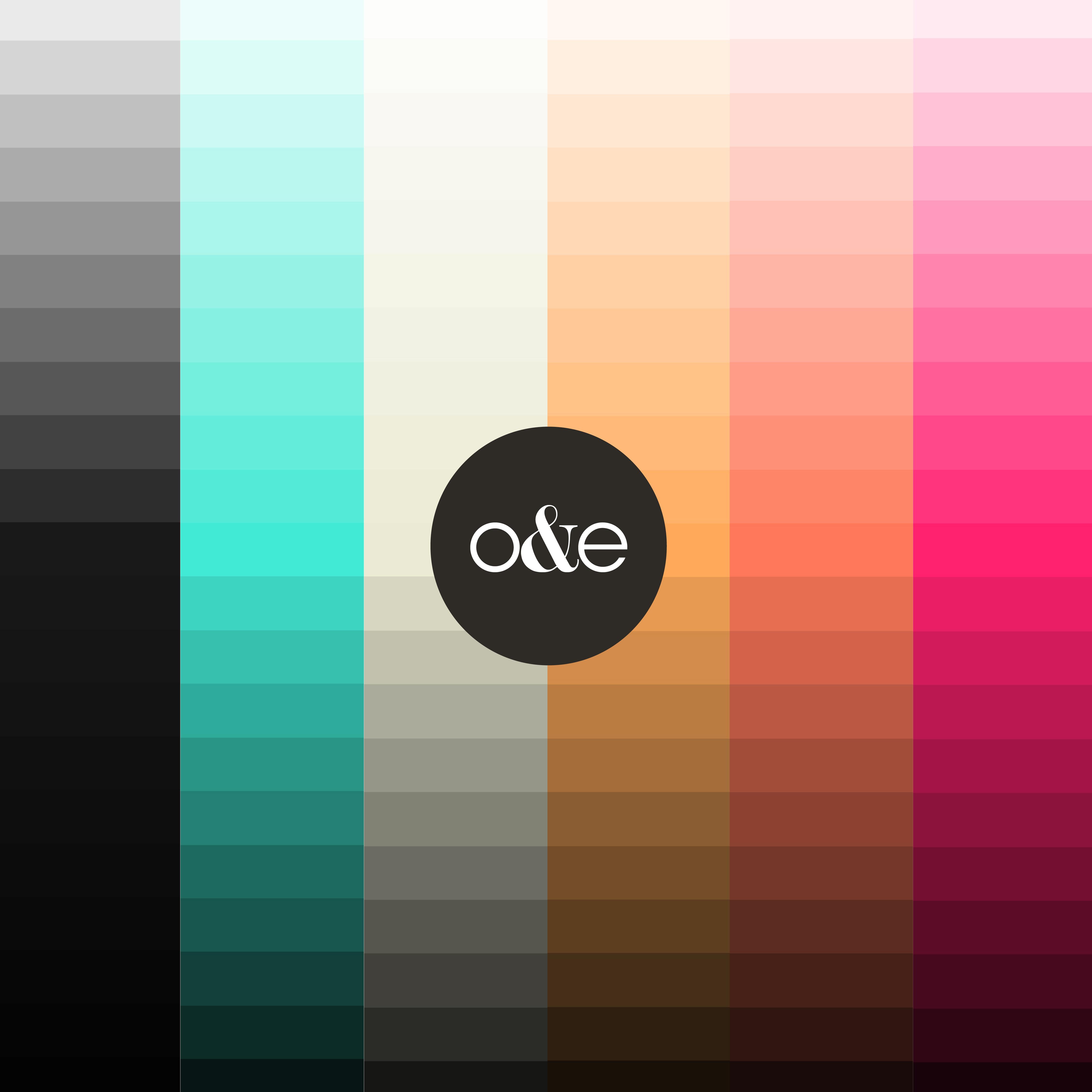 o&e color palette